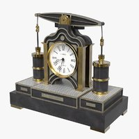 3D beam engine clock