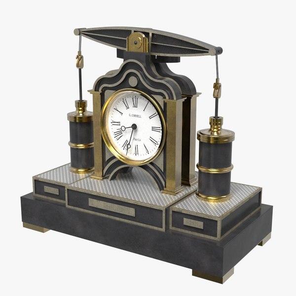3D beam engine clock