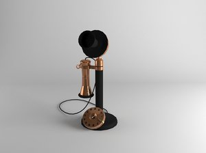 old telephone 3D