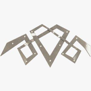 3D model metal pattern