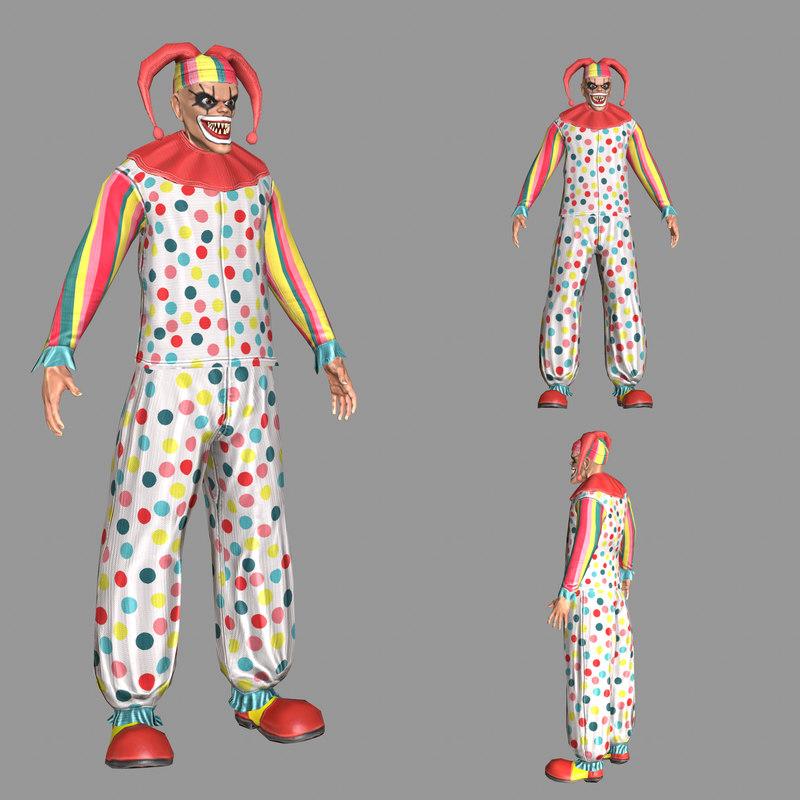 3D modeled clown model