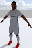 3D football player model