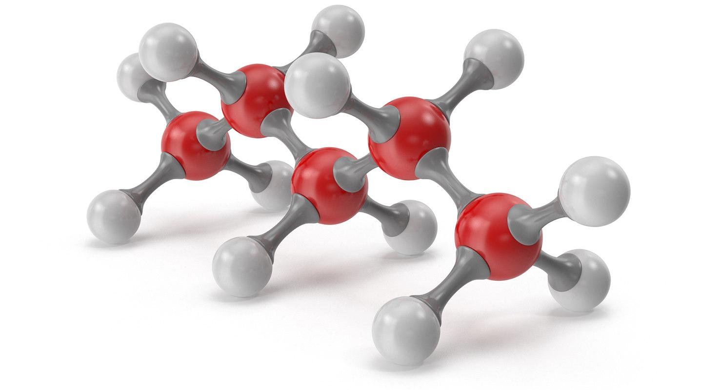 3D pentane molecular