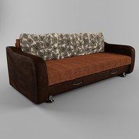sofa with leather armrests