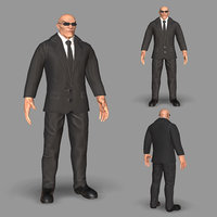 3D model bodyguard guard