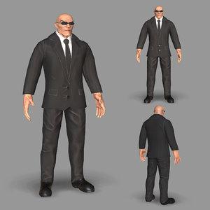 3D model bodyguard guard