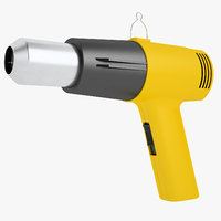3D industrial heat gun model