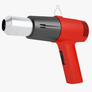 3D industrial heat gun model