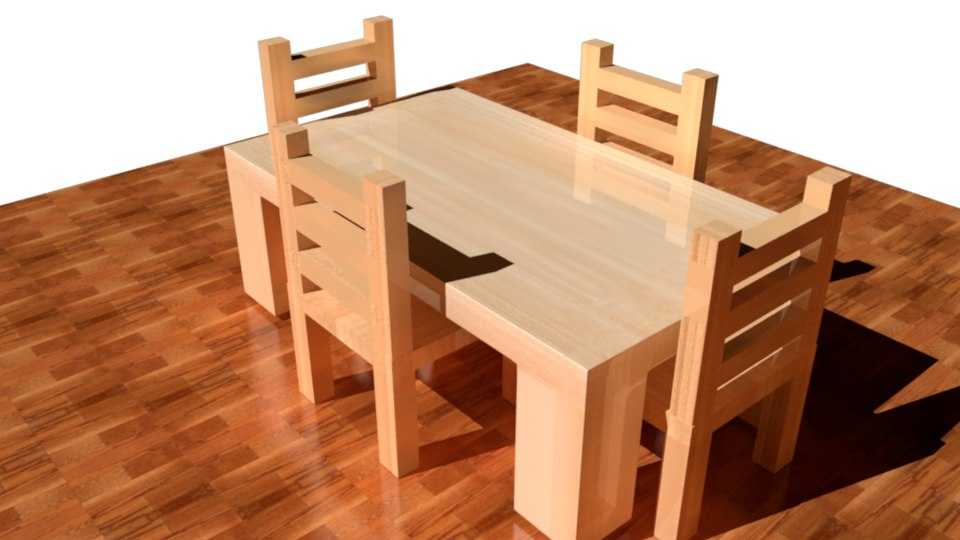 table chair 3D