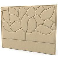 3D headboard fabric bed model