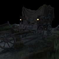 3D carriage scene