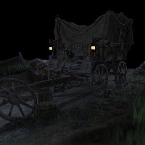 3D carriage scene