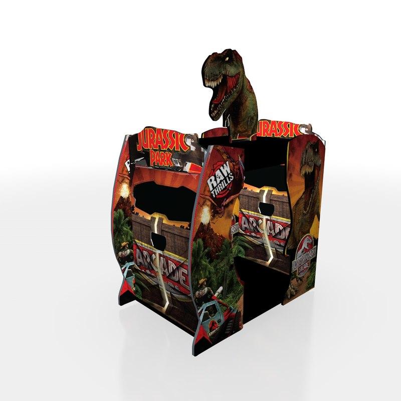 3D jurassic park arcade model