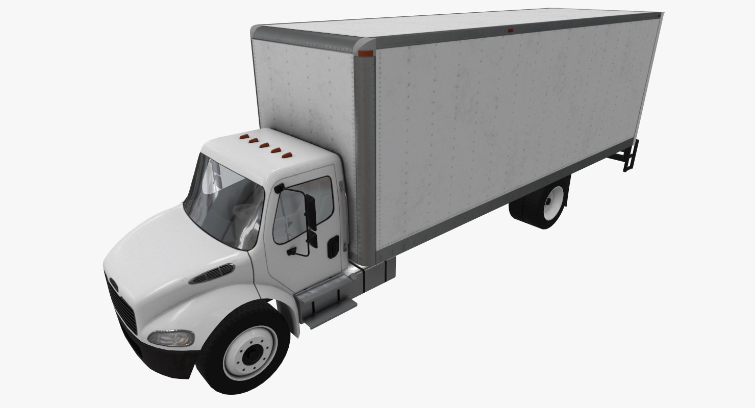 realistic freightliner m2 box 3D model