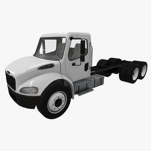 realistic freightliner m2 chassis 3D model