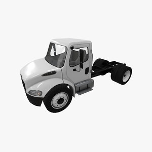 3D realistic freightliner m2 chassis