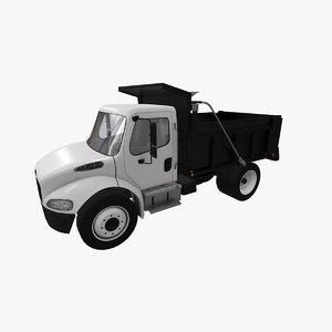 3D model freightliner m2 dump truck