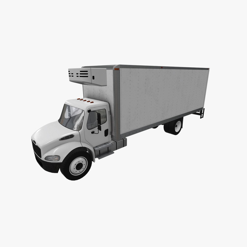 realistic freightliner m2 fridge model