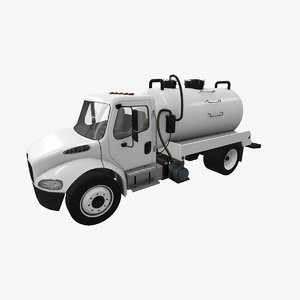 3D realistic freightliner m2 septic model