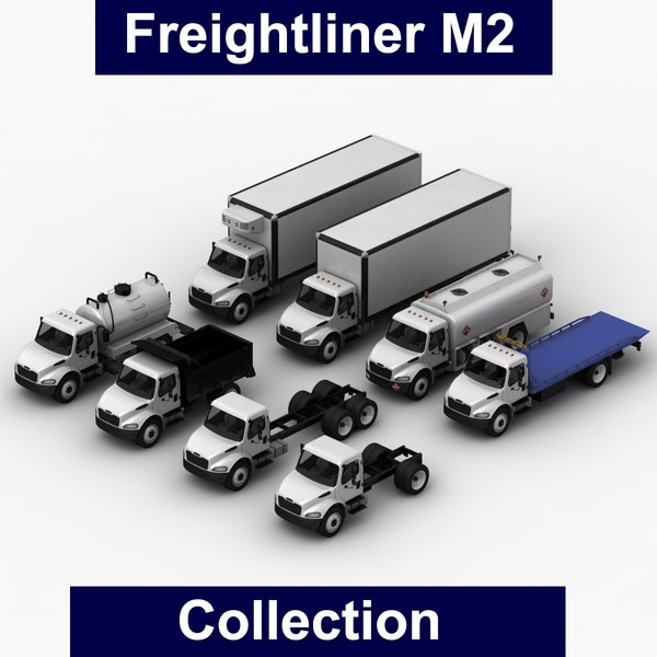 3D realistic freightliner m2