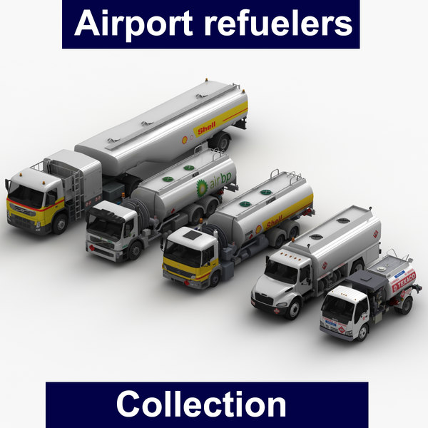 airport refuelers fueler 3D model