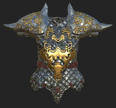 3D fantasy armor model