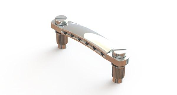 metric stop tailpiece guitar 3D
