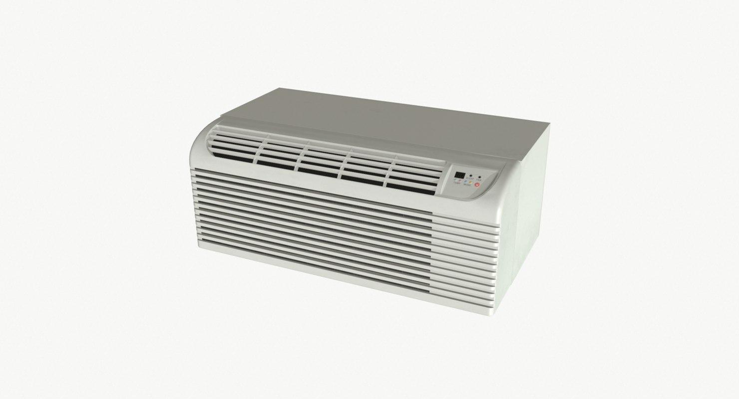 3D model realistic air conditioner ptac