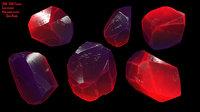 3D crystal gem diamond model