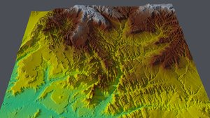 3D model zion national park elevation