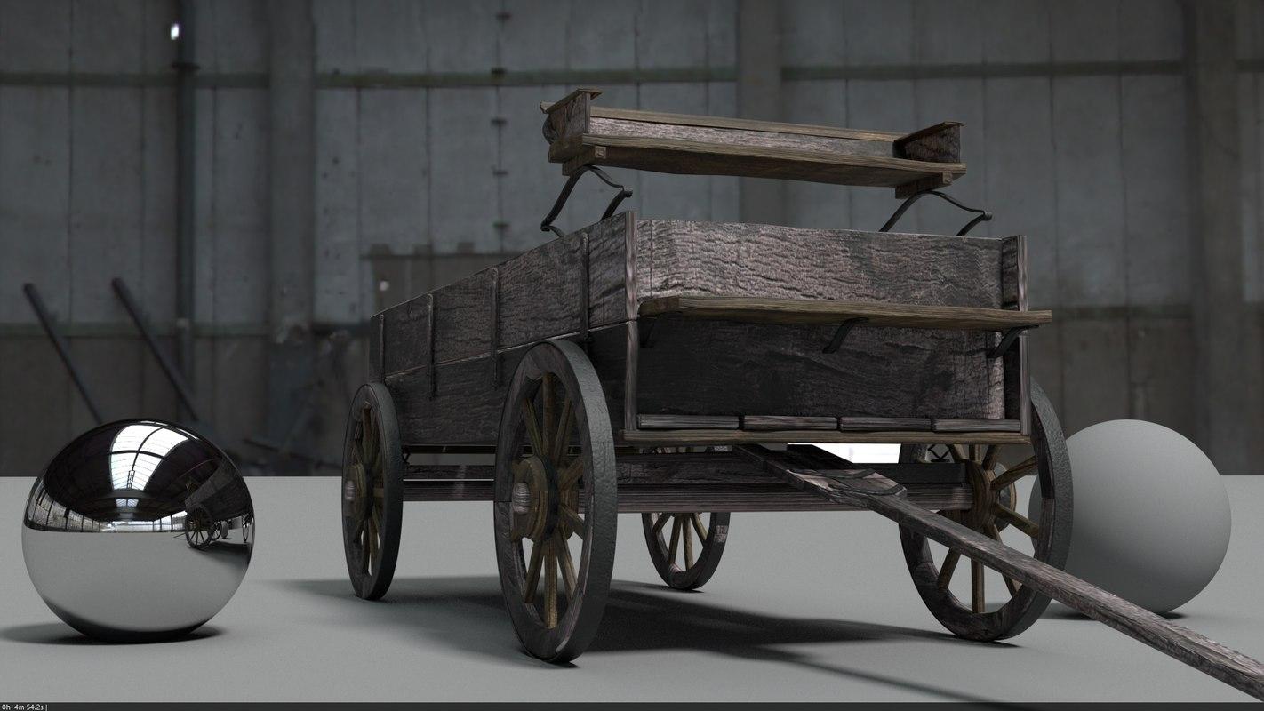 3D wagon rustic
