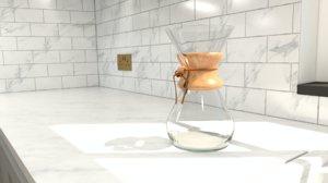 8 cup classic coffeemaker 3D model