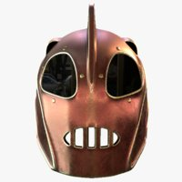 3D helmet rocketeer model