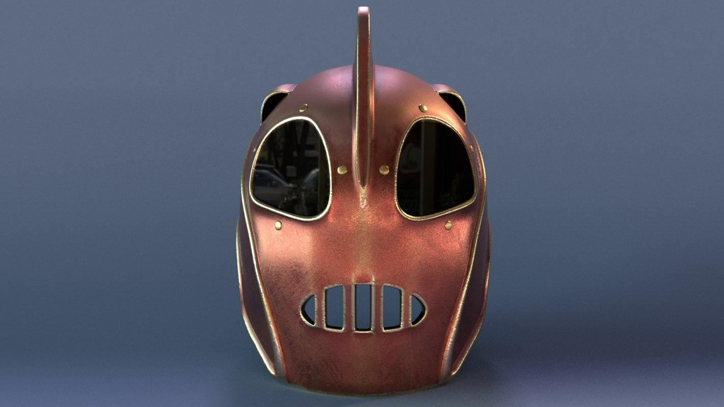 3D helmet rocketeer model