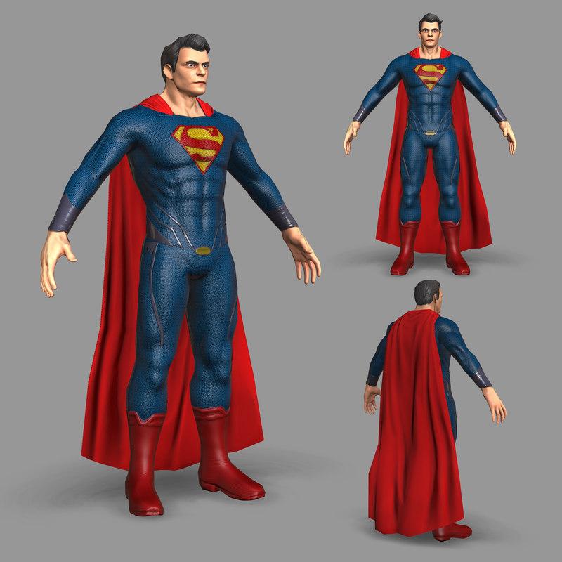 3D model superman man