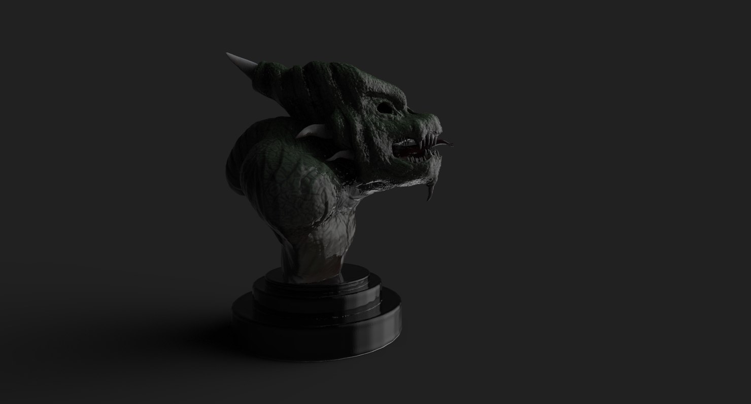 chinese asian gargoyle model