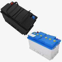 car battery 01 3D