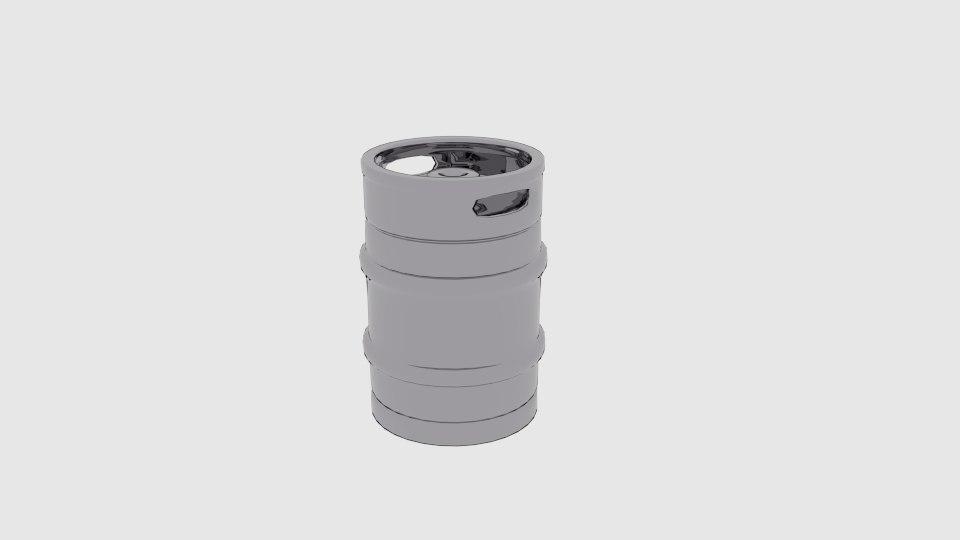graduation beer keg 3D