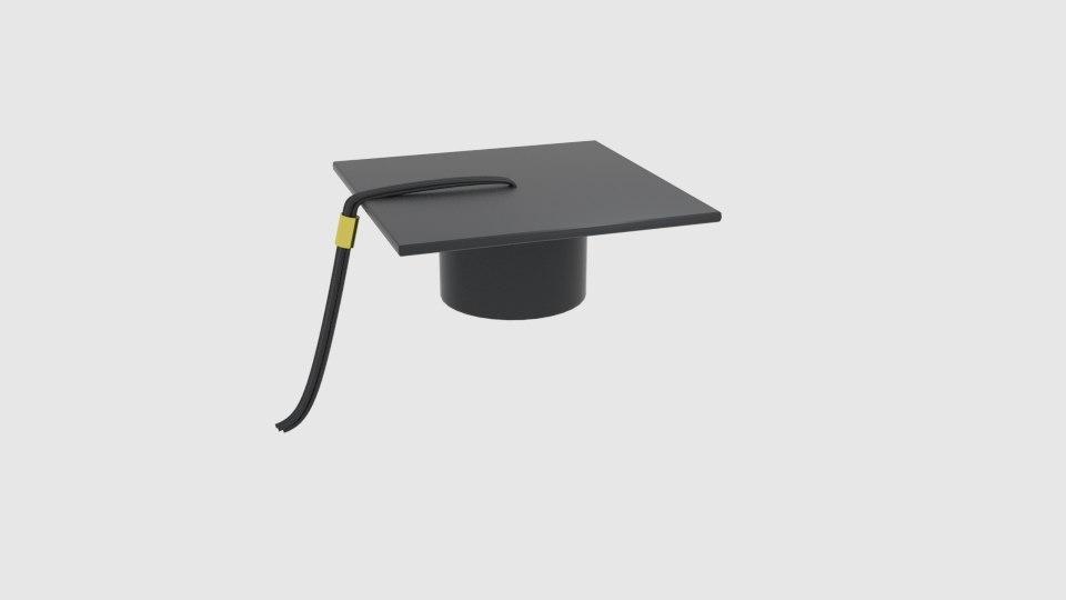 graduation hat model