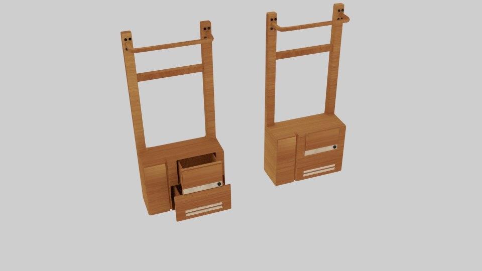 3D surf cabinet padle model
