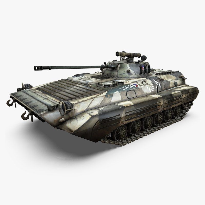3D model modern tank