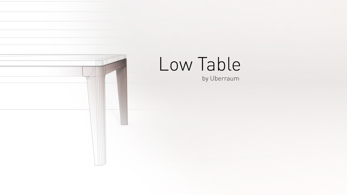 3D table rendered