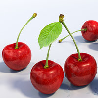 cherries stem advertising 3D