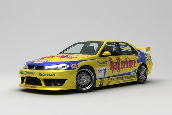 peugeot 406 rally 3D model