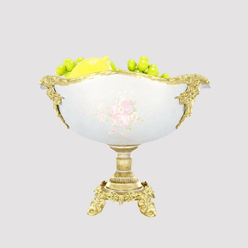 royal vase fruit 3D model