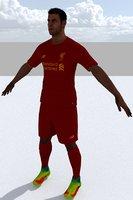 3D football games model