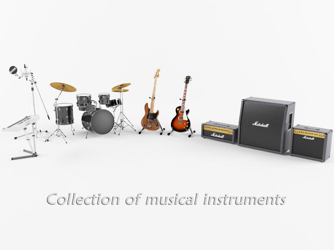 3D musical instruments model