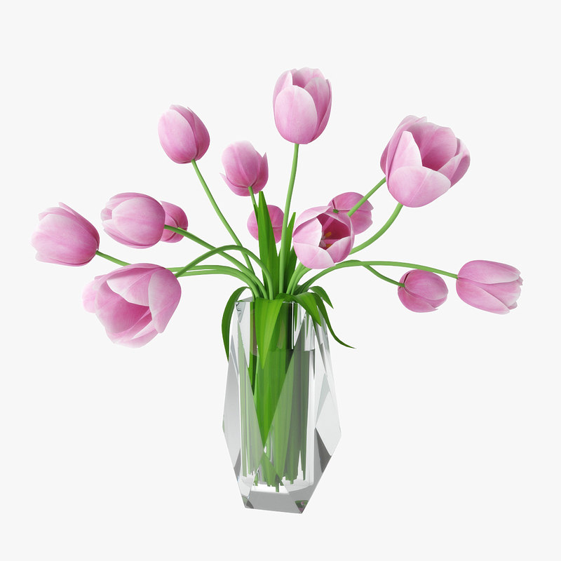 tulips faceted crystal 3D model