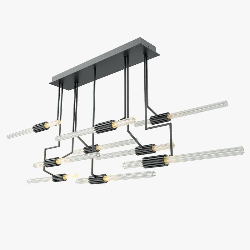 wired custom lighting 3D model