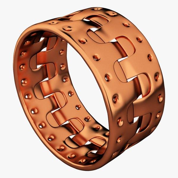 3D copper bracelet